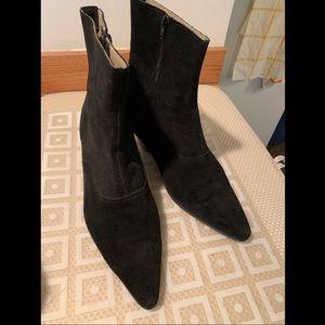 Black Suede Chelsea Boots - Trash & Vaudeville